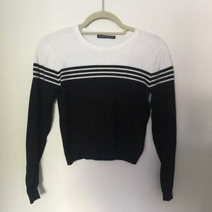 Black and white Brandy Melville Sweater